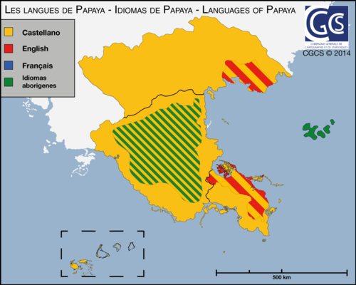 Carte des langues de Papaya